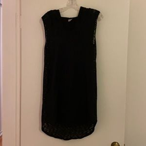 Black Sleeveless Bathing Suit Coverup With Hood